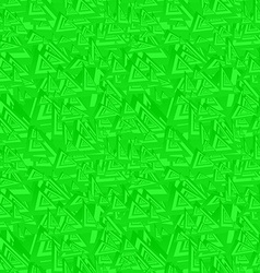 Green seamless triangle pattern background vector