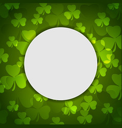 Green shamrock clovers st patrick day vector