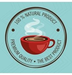 guarantee label coffee isolated icon design vector image