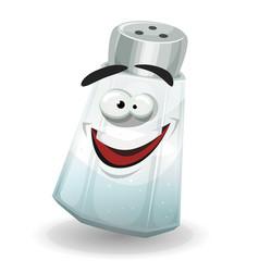 Happy salt shaker character vector