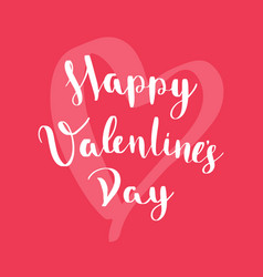 happy valentines day card on red background vector image