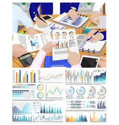 Infographic and flowcharts business conference vector
