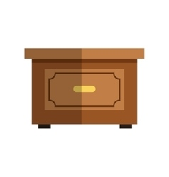 Isolated table of wood design vector image