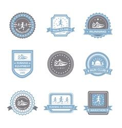 Jogging Label Set vector