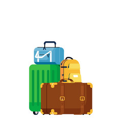luggage bags vector image