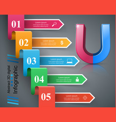 magnet business color paper infographic vector image