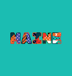 maine concept word art vector image