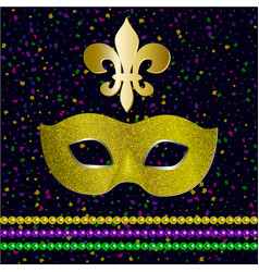 mardi gras carnival party design vector image