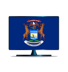 Michigan flag tv vector