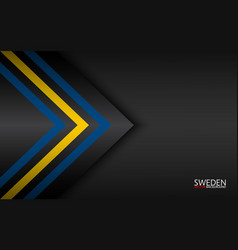 Modern colorful arrows with swedish colors vector