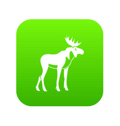 moose icon digital green vector image