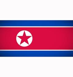 national flag north korea vector image