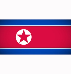 National flag of North Korea vector image