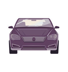 passenger car flat icon vector image