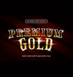 premium gold editable text effect vector image