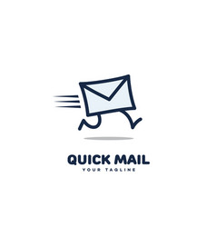 quick mail logo vector image