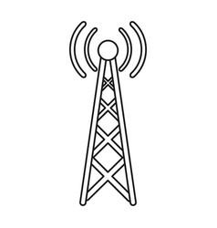 Radio antenna transmission mast communication line vector