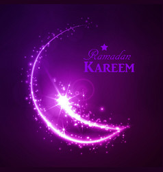 ramadan greeting card on dark background vector image