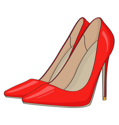 red stiletto heels vector image