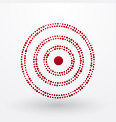 red target composed of small dots vector image