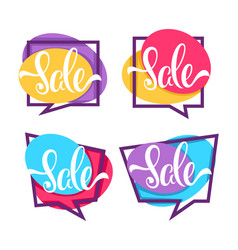 sale collection bright discount bubble tags vector image