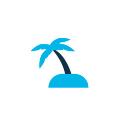 sand with palm icon colored symbol premium vector image