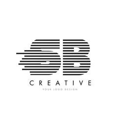 sb s b zebra letter logo design with black and vector image