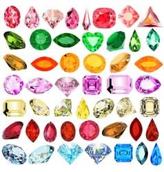 set of precious stones vector image vector image