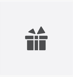 simple gift icon vector image