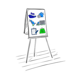 sketch logistic business presentation template vector image
