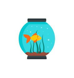 Small aquarium icon flat style vector