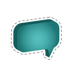 speech bubble message cut line vector image