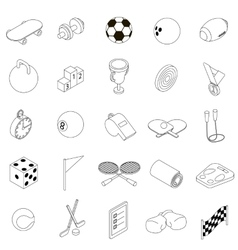 Sport icons set isometric 3d style vector