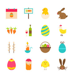 Spring easter objects vector