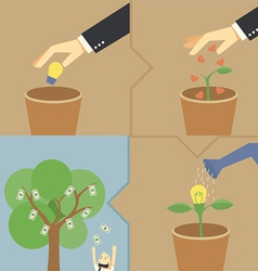 Step make money from idea vector image