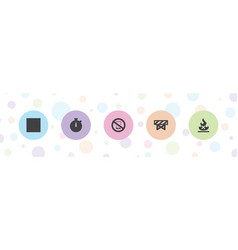 Stop icons vector