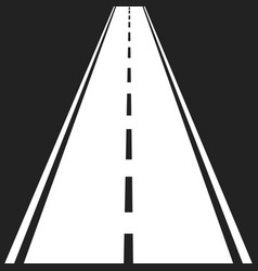 straight road with white markings highway road vector image