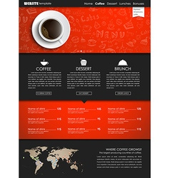 Template coffee web site vector