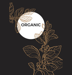 template organic black 2 vector image