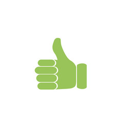 thumbs up in a flat style on white background vector image