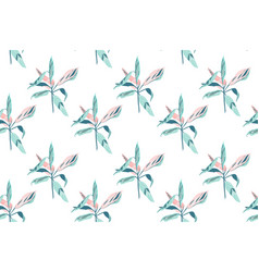 trendy hand drawing seamless leaf pattern vector image