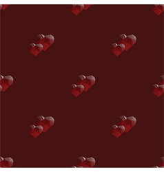 Two hearts lowpoly seamless pattern vector