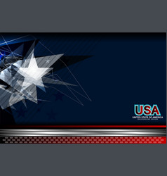 Usa blue background vector