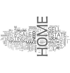 Why it s never been easier to sell your own home vector