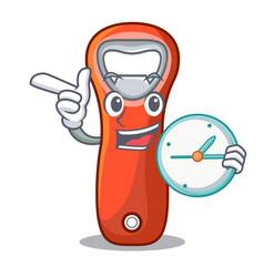 With clock aluminium bottle opener for design vector