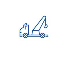 wrecker truck line icon concept wrecker truck vector image