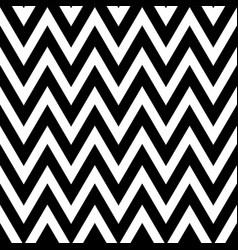 black and white pattern in zigzag classic chevron vector image