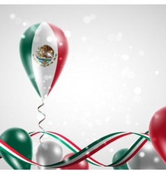 Flag of Mexico on balloon vector image