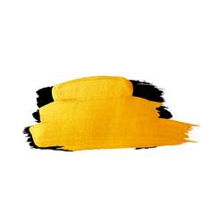 Golden brush stroke banner for you amazing vector