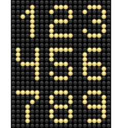 Light Bulb ABC 4 vector image vector image